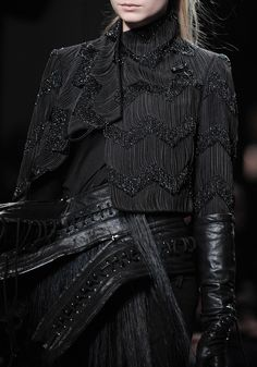 beaded cclothing Haute Couture    Ann Demeulemeester A/W 2011