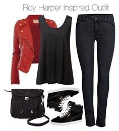 Arrow - Roy Harper Inspired Outfit I NEED the red leather jacket. Fandom Fashion, Fashion Tv, Autumn Fashion, Fashion Outfits, Womens Fashion, Tv Show Outfits, Fandom Outfits, Girl Outfits, Character Inspired Outfits