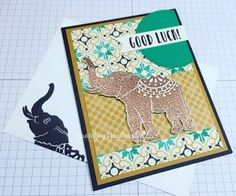 Quitabug Handmades: Stampin' Up! Moroccan Lucky Elephant Card| 2017 Oc...