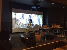 4K lazer projection getting setup. - http://ift.tt/1HQJd81