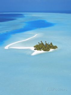 An Island in the North Male Atoll ~ The  Maldives, Indian Ocean