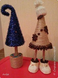 Бонсай топиарий Новый год Моделирование конструирование Ёлочки  ёлочки Клей Конусы Кофе Шпагат