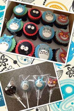My neighbour totoro themed cupcakes & cake pops