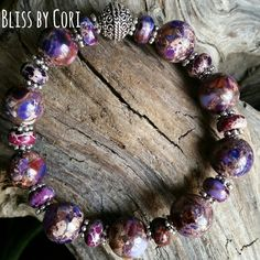 Imperial Purple Purple Imperial Jasper Stretch Bracelet BlissbyCori