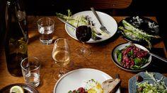 Menu | Manfreds in Norrebro (Open Sundays). 7-course dinner for Kr250. Try the tartare. Jægersborggade 40 2200 København, Danmark +45 36 96 65 93