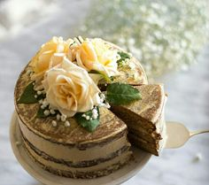 Salted Honey and Orange Blossom Naked Cake | MattersOfTheBelly (with ButterandBrioche)