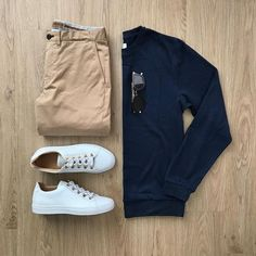 3 Outfit Grids To Help You Look Better Than Everyone Else - - Look sharper than your friends. Stylish Mens Outfits, Casual Outfits, Men Casual, Fashion Outfits, Ootd Fashion, Plad Outfits, Casual Attire, Basic Outfits, Stylish Clothes