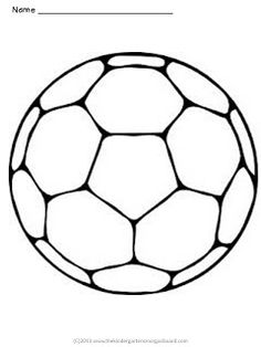 Free soccer ball coloring page to introduce students to crayons and coloring!