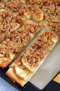 Salted Caramel Apple Crumble Pizza Sticks - Jo and Sue