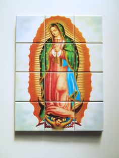Our Lady of Guadalupe Mosaic Ceramic Tiles wall by TerryTiles2014
