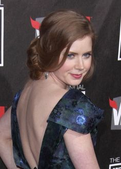 Amy Adams elegant, updo hairstyle