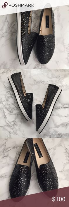 ⚡️SALE⚡️Steve Madden Lasercut Sneaker Slip-on sneaker. Perforated leather upper. Leather insole and rubber outsole. Only tried on, never used. New with box! Fits true to size for a medium width (I have wide feet and these didn't work for me) Steve Madden Shoes Sneakers