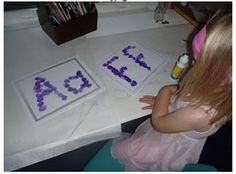 Activities for teaching letter recognition
