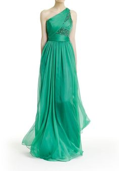Chiffon One-Shoulder Column Long Evening Dress -- eeep! c333794da47c