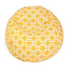 Majestic Home Goods Links Small Classic Bean Bag (Yellow) (Polyester Blend)