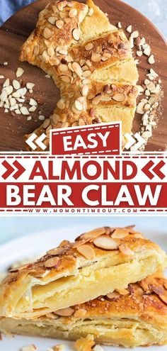 This scrumptious Almond Bear Claw Recipe is the best brunch idea! This homemade bear claws made of puff pastry is so easy to make. Filled with a decadent almond filling, this delicious pastry is a gorgeous addition to your menu! Pin this brunch food idea! Great Desserts, Best Dessert Recipes, Brunch Recipes, Breakfast Recipes, Brunch Foods, Breakfast Items, Sweet Breakfast, Bear Claw Recipe, Bear Claws