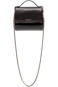 Givenchy Black Patent Mini Pandora Box Bag