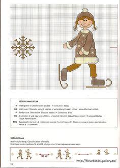 ru / Фото - Rico 113 - Girl on skates Cross Stitch Kitchen, Just Cross Stitch, Cross Stitch Needles, Cross Stitch Baby, Needlepoint Patterns, Embroidery Patterns, Cross Stitching, Cross Stitch Embroidery, Cross Stitch Designs