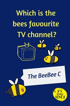 Joke Time! Let's have some BEE FUN! Don't forget to laugh! - #bees #beejokes #beehappy #jokes #fun #laugh #MyDadsHoney Funny Jokes And Riddles, Kid Jokes, Puns Jokes, Funny Jokes For Kids, Corny Jokes, Memes, Kid Friendly Jokes, Bee Puns, Bee Quotes