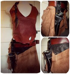 ALGIZ  Leather drinking horn holster  by GypsyHawkeArtistry