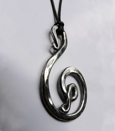 SPIRAL MOTIF NECKLACE Hand Forged Stainless by mycreativesight, $25.00