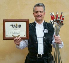 """RecordSetter Cerificate and Patch """"MOST SWORDS SWALLOWED (consecutively) AND TWISTED"""" Twelve Swords!!! By Brad Byers"""