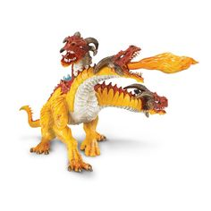 This is a Fire Dragon figure that is produced by the neat folks over at Safari Ltd. Safari is very well known for making high quality and realistic animal figures and things related to the world of th