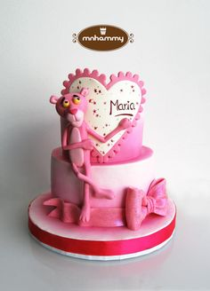 Pink Panther - Cake by Mnhammy by Sofia Salvador