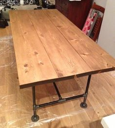 Step by step for replicating industrial table