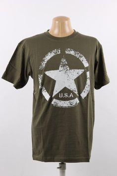 T-shirt med USA´s armystar mærke fra 2. Verdenskrig