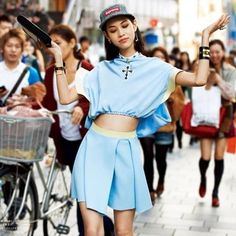 "Model/Actress Kiko Mizuhara.    Profile:  Birth Name - Audrie Kiko Daniel  Name in Japanese - 水原希子, Mizuhara (水原) Kiko (希子)  Birthday - October 15, 1990 (22 Years Old)  Birthplace - Dallas, Texas, United States  Hometown - Hyōgo, Kobe, Japan  Current Residence - Tokyo, Japan  Height - 168 cm (5' 6'') (allegedly 5'4"")  Weight - 42 kg (92 lbs)  Shoe size - 23 cm (convert that depending on what country you are from)  Blood Type - A  She got her start modeling when she entered and won a model search"