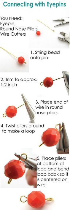 how to make a wire loop for beads