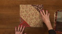 Learn how to make a quick and easy fold and sew quilts with this instructional quilting video from National Quilter's Circle.