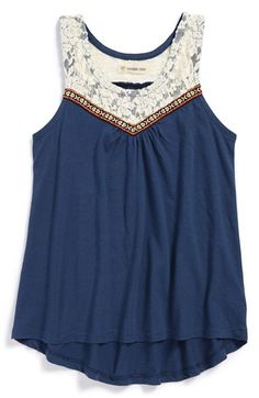 in the cream color Tucker + Tate Lace Tank Top (Big Girls) available at #Nordstrom                                                                                                                                                                                 More