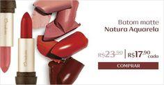 Porquê o batom é o carro chefe de toda maquiagem <3 Promoção válida enquanto durarem os estoques. Aproveite ;-) rede.natura.net/espaco/REGINAMACIEL