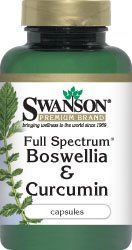 Full Spectrum Boswellia and Curcumin 60 Caps by Swanson Price: $8.50  & FREE Shipping on orders over $25. In Stock.     100% whole-herb Boswellia and Curcumin     Potent combination of joint-supporting boswellia and free-radical-fighting curcumin