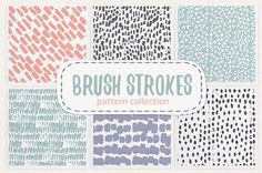 Ad: Brush strokes pattern collection by Nicetoseeya on Brush strokes collection include 6 hand drawn seamless patterns. They can be used for printed paper stationery (wedding stationery, wrapping Stationery Paper, Wedding Stationery, Action Painting, Pencil Illustration, Graphic Illustration, Creative Sketches, Paint Markers, Graphic Patterns, Print Poster
