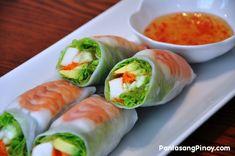 summer rolls - mix between japanese sushi and viet summer roll