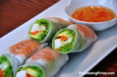 summer rolls - mix between japanese sushi and viet summer roll