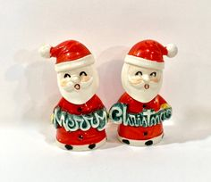 Vintage Christmas Santa Salt and Pepper Set NAPCO Japan | Etsy Christmas Decorations, Christmas Ornaments, Christmas Stuff, Salt And Pepper Set, Star Ornament, Beaded Ornaments, Holiday Photos, Etsy Shipping, Hot Sauce Bottles