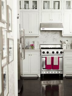 white + marble + pink