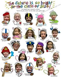 This would be cute to do for the end of the year...except have the kids decorate their own faces