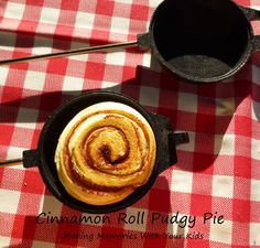 Cinnamon Roll Pudgy Pie | LINK: Pudgy Pie (aka Mountain Pie) Recipes/Ideas - S'more, Spaghetti, Bacon & Egg, etc.