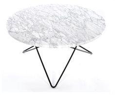 O-table sofabord designet av Dennis Marquart forOX Design. Et bord i tidløs design med vakker White Carerra marmor og bein i rustfritt stål eller svart pulverlakkert stål, med en høyde på 40 cm. Med bein i messing er bordet 36 cm høyt. Diameter 80 cm. OBS. 4 - 6 ukers levering. Bordet må hentes på showroom SENDES IKKE Marmor er et naturmateriale og mønsteret vil avike noe fra bildet. Det er ikke gyldig ...