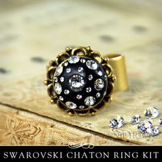 Swarovski Crystals Chatons Epoxy Clay Glamour Ring DIY Kit Epoxy Clay from Annie Howes.