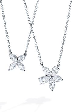 Put stars in her eyes with platinum and diamond pendants from the Tiffany Victoria® collection.