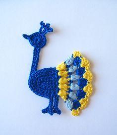 Crochet Peacock Applique