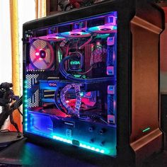 I instantly think of @skittles when I see this ammount of colors in one build! Amazing RGB! What do you think?  ____________________________________________ Owner: ? ____________________________________________ Follow @sky_division for daily PC/setup pics!  Turn on your notifications  DM your PC/Setup to get featured!  DM for business inquiries  ____________________________________________ Check out these legends:  @lyquid_pcs @pcgaminghardware @modsbyphloon @ds.customs @pcbeasts…