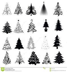 Christmas Tree Vector Art Christmas tree collection!