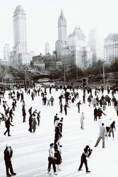 meinthefifties:  Wollman Rink, New York, 1951.